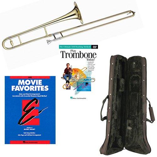 Play Trombone Today Deluxe Pack - Includes Bb Tenor Trombone, Self-Teaching Method DVD & Essential Elements Movie Favorites