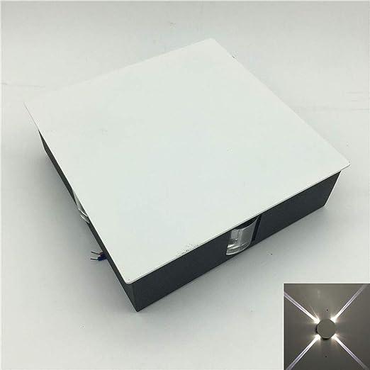 FairOnly Foco Luces Moderno Simple 85 – 265 V LED Cruz Narrow Beam Allée LED Aplique Dormitorio Pasillo Escalera Interior luz Blanca: Amazon.es: Hogar