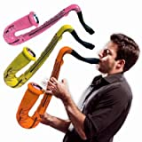 Inflatable Saxophones - 24'' Multi-Color, 12 Pack