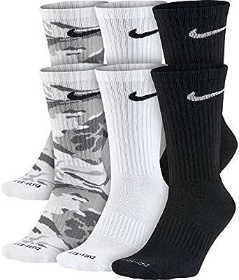 Amazon.com  NIKE Unisex Everyday Max Cushion Crew Socks (6 Pairs ... 870403c54e108