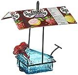 Parasol SSBW1AQ 3 by 6 by 6-Inch Sugar Shack Basketweave 1 Hummingbird Feeder, Aqua For Sale