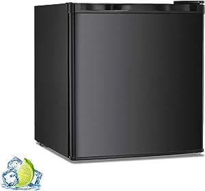 R.W.FLAME Mini Freezer Countertop, Energy Star 1.1Cubic Feet Single Door Compact Upright Freezer with Reversible Door(Black)