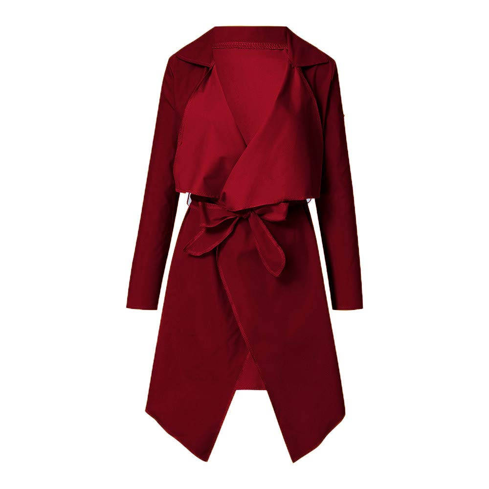 ZEZKT-Fashion Elegant Wintermantel Damen Lose Trenchcoat Unregelm/ä/ßige Casual Lose Langarmshirt Outwear Winter Warm Parka Lose Daunenjacke Elegant Parka