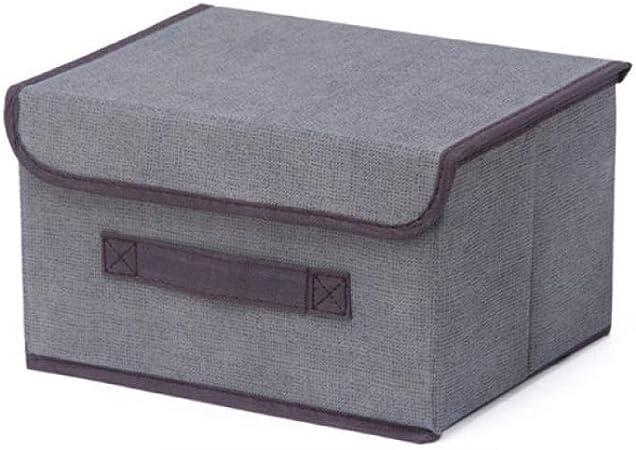Cajas de almacenaje Cestos para la colada plegables Cajas de almacenamiento de 2 tamaños con tapas Caja de almacenamiento de tela no tejida Contenedores organizadores Cubo de lavandería grande Cesta: Amazon.es: Hogar