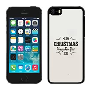 Beautiful Unique Designed iPhone 5C Phone Case With Simple Christmas Greeting Vintage Text_Black Phone Case