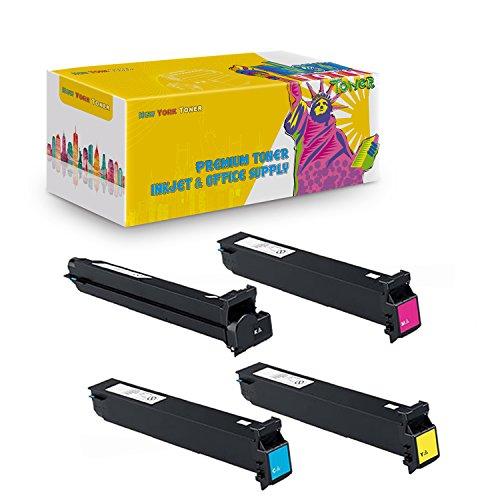 New York TonerTM New Compatible 4 Pack 8938-505 8938-508 8938-507 8938-506 High Yield Toner for Konica-Minolta : BizHub C250 | C252. --Black Yellow Cyan Magenta -