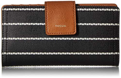 (Fossil Logan RFID Tab Wallet, Black/White)