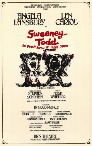 Sweeney Todd Poster Broadway Theater Play 11x17 Len Cariou Angela Lansbury Victor Garber MasterPoster Print