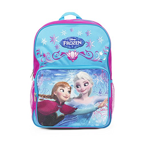 Disney Frozen Elsa and Anna 16 inch Purple Backpack School Bag