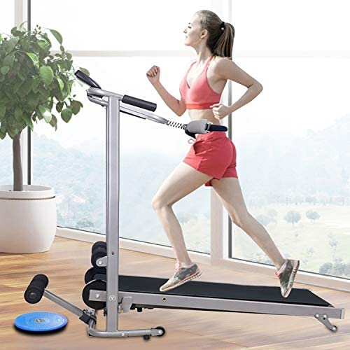 ZANFUN 4-in-1 Foldable Treadmill with Incline for Home Gym Exercise Equipment Portable Small Treadmill for Walking Running Supine Twisting Massage Weight Loss Fitness Treadmills for Small Spaces 2