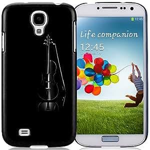 NEW Unique Custom Designed Samsung Galaxy S4 I9500 i337 M919 i545 r970 l720 Phone Case With Black Violin Elegant_Black Phone Case