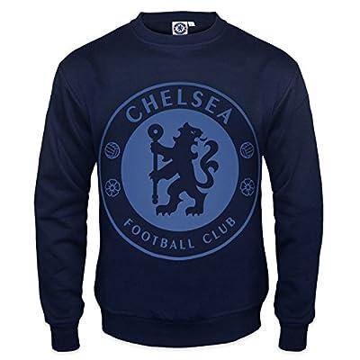 Chelsea Football Club Official Soccer Gift Mens Crest Sweatshirt Top
