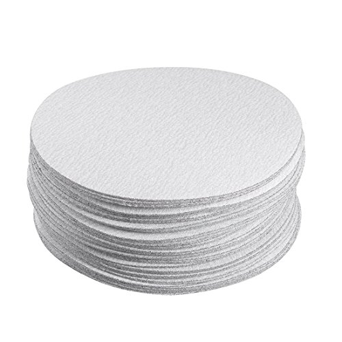 uxcell 50 Pcs 6-Inch Aluminum Oxide White Dry Hook and Loop Sanding Discs Flocking Sandpaper 180 Grit by uxcell (Image #4)