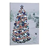 Miles Kimball Patriotic Tree Lighted Canvas by Holiday PeakTM