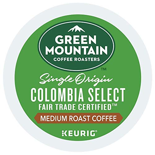 - Green Mountain Coffee Colombian Fair Trade Select Keurig Single-Serve K Cup Pods, Medium Roast Coffee, 24Count