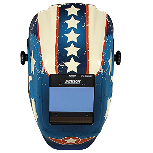 Jackson Safety 46101 Insight Variable Auto Darkening Welding Helmet , HaloX , ADF, Stars & Scars Graphic by Jackson Safety (Image #2)