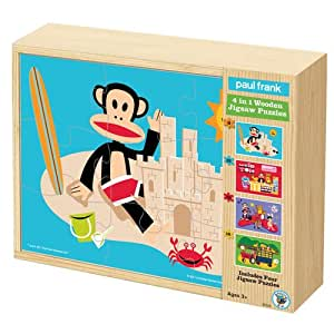Paul Frank 4-in-1 Wooden Jigsaw Puzzle Box