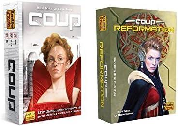Paquete de Juego de cupón, Incluye Coup (El Universo distópico) y expansión de la reparación de cupones por Indie Boards y Tarjetas (2 artículos): Amazon.es: Juguetes y juegos