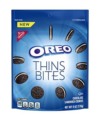 - OREO Thins Bites Chocolate Sandwich Cookies, Original Flavor, 1 Resealable 6 oz Pack