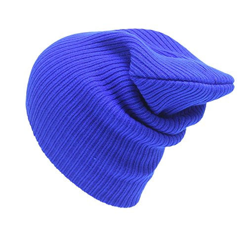 Mens Women Winter Warm Knitting Ski Baggy Hats Wool Hat Unisex Daily Slouchy Beanie Skull Cap