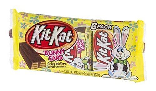Kit Kat Crisp Wafers in Milk Chocolate Easter Bunny Ears, 6-1.55 Ounce Bars, 9.3 Ounces