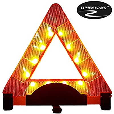 Lumen- Warning Triangle Emergency Reflective Road Safety | Durable Quality Orange Triangle: Industrial & Scientific