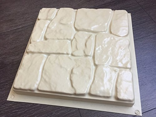 Maximumstore - 1 pc Plastic Molds for Concrete - Pavers Cement Forms (Over Stone Brick Veneer)