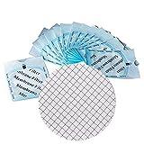 Set of 200 MCE Gridded Membrane Filter Pore Size 0.45μm Diameter 47mm, Sterile, Hydrophilic, Lab Filter Binder Free
