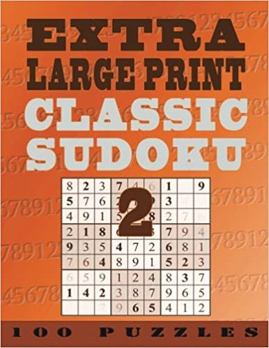 Extra Large Print Classic Sudoku 2 100 Very Easy To See Easy Level