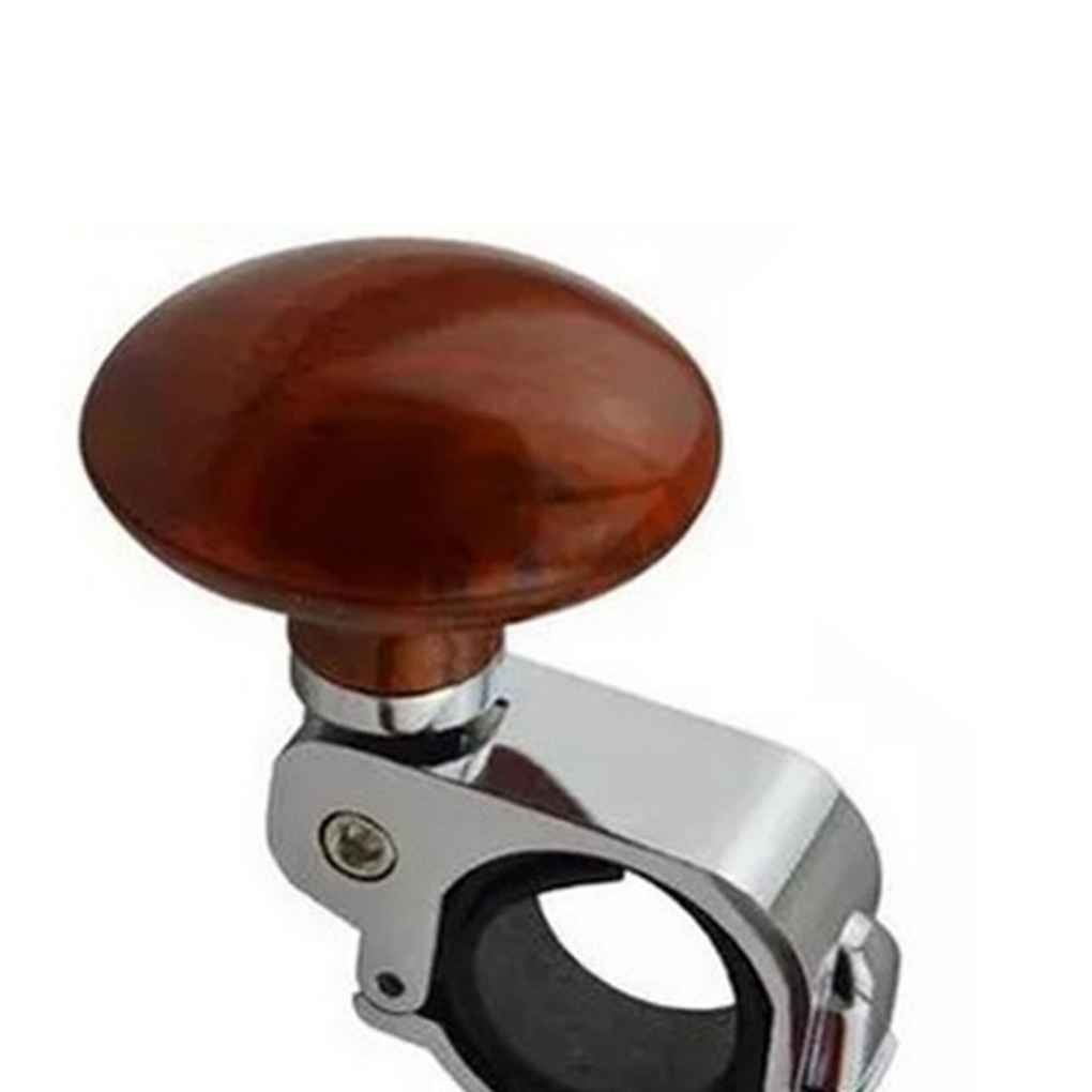 Egal ABS Alloy Auto Steering Wheel Spinner Handle Knob Car Assistant Power Steering Wheel Ball Accessory Mahogany