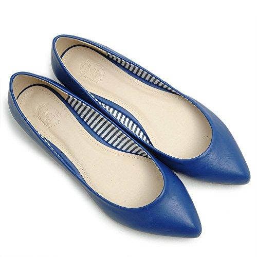 Ollio Womens Ballet Shoe Pointed Toe Comfort Multi Color Flat