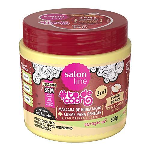 Salon Line - Linha Tratamento (#ToDeCacho) - Mascara Multifuncional 2 em 1 Vinagre de Maca 500 Gr - (Salon Line - Treatment (#IHaveCurls) Collection - Apple Vinager 2 in 1 Mascara Net 17.6 Oz)
