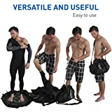 Surf Sac - Wetsuit Changing Mat and Dry Carry Bag - Large Waterproof Surf Bag with Drawstring, use as Wetsuit Bag or for Swimsuits - BONUS Shoulder Strap for Hands Free