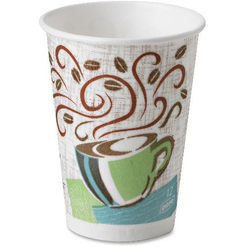 Dixie Perfect Touch Hot Cup (Dixie 5342DXCT Perfect Touch Hot Cup, Wise Size, 12 oz, 500/CT, Multi)