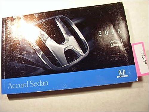 honda accord 2005 owners manual