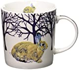 Paperproducts Design Winter Solstice Rabbit Porcelain Gift Boxed Mug, 13.5-Ounce, Multi-Color