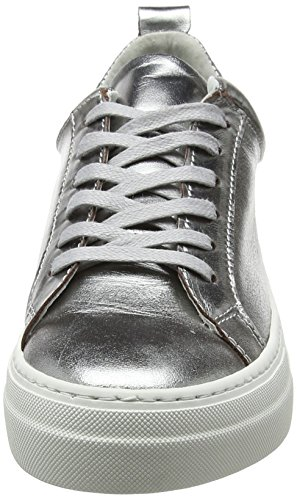 Silver Sneakers Leather Sneaker Pieces Basses Femme Pspaulina I8tqfp