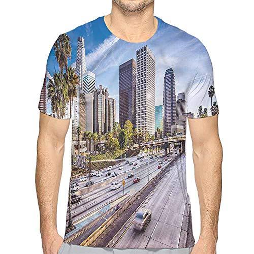 Comfort Colors t Shirt Travel,Downtown Los Angeles USA t Shirt L ()