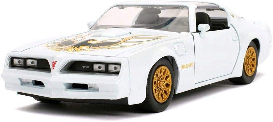 Amazon Com 1977 Pontiac Firebird Trans Am T Top Pearl White Jada 31600 4 1 24 Scale Diecast Model Toy Car Toys Games