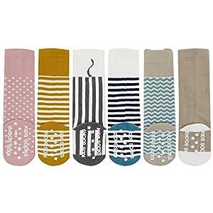 Bienvenu 6 Pack Unisex Toddler Non Slip Knee High Stockings Tube Long Socks