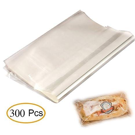 Amazon.com: Bolsas de papel de celofán para pan, tartas ...