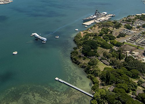 Home Comforts An aerial the USS Arizona and USS Missouri Memorials at Ford Island, Joint Base Pearl Harbor-Hickam.