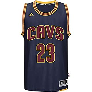 wholesale dealer 40faf 8a6d2 adidas Lebron James Men's Navy Cleveland Cavaliers Swingman ...