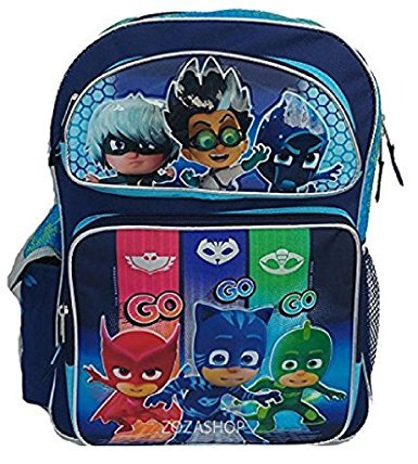 "PJ Masks Backpack 12"" Boys Catboy Owlette Gekko School Backpack Toddler Backpack"