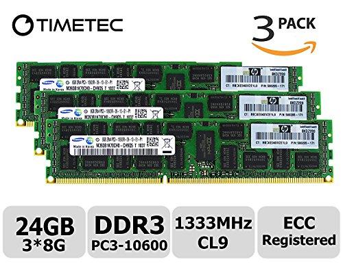 Samsung 8GB 2Rx4 PC3-10600R DDR3-1333 ECC Registered 1.5V RDIMM M393B1K70DH0-CH9