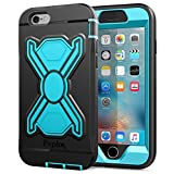 Kids Goods Best Deals - iPhone 6s Plus Case , iPhone 6 Plus Case Pepkoo Heavy Duty Armor Rugged Hybrid [3 Layer] Drop Protection Bumper with Built-in Shockproof Screen Protector and Kickstand for iPhone 6/6s plus Black Blue