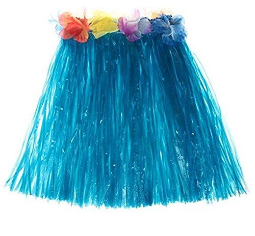 LAMEIDA Faldas de Mujer Falda Vestido Vestuario Baile Disfraz Hawaiana Niña Vestido Hawaiano Vestimenta Mujer Ropa Hawaiana Azul: Amazon.es: Ropa y ...