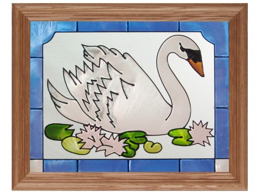 Bird Swan, B-048 (Art Glass)