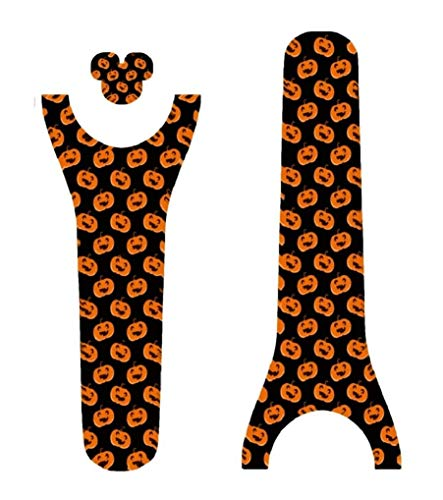 Vinyl Skin Decal Wrap Sticker Cover for The MagicBand 2 | Magic Band 2.0 Halloween Pumpkins Galore ()