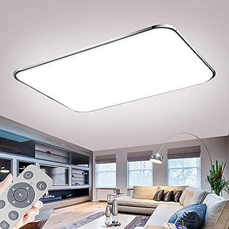Deckenlampe LED Deckenleuchte Dimmbar 72W mit Fernbedienung Wohnzimmer  Lampe Modern Deckenleuchten Kueche Badezimmer Flur Schlafzimmer